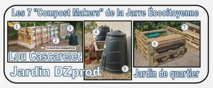 les 7 composteurs pour association la jarre écocitoyenne