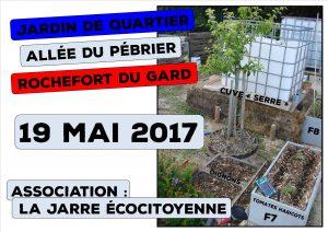 Jardin de quartier - Allée du Pébrier - association la jarre écocitoyenne - 19 Mai 2017