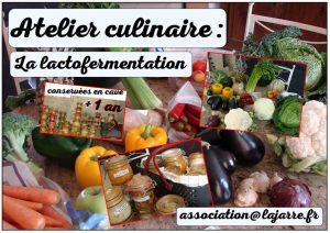 Atelier culinaire Lactofermentation - Association la jarre écocitoyenne