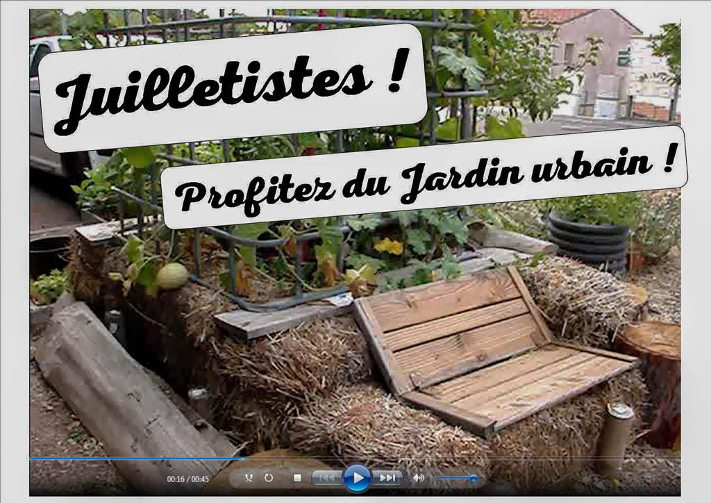 juilletistes profitez du jardin urbain