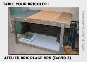 Table ré-utilisée conception DavidZ- Récup Botanic - association la jarre écocitoyenne