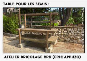 Table ré-utilisée conception Eric - Récup Botanic - association la jarre écocitoyenne