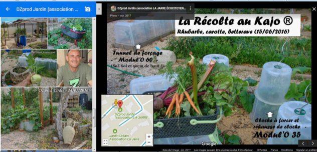 GOOGLE MAP - Référencement des jardins partagés - association la jarre écocitoyenne - octobre 2017