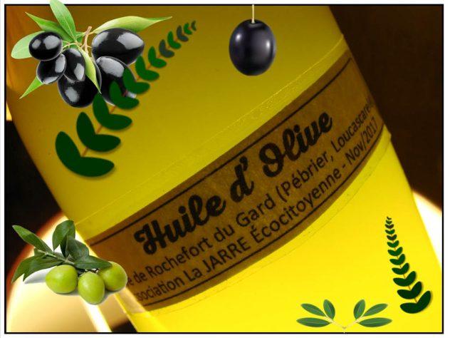 Huile Olive de Rochefort du Gard - association la JARRE ecocitoyenne - 10-2017