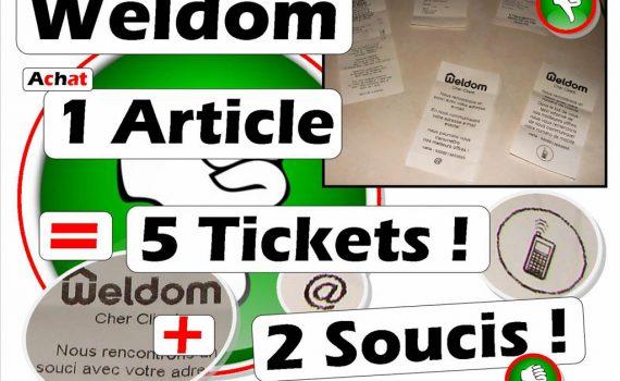 Weldom 1 article donne 70cm de ticket de caisse - Collecte Mail et tel portable