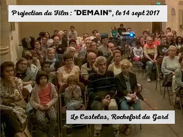 public lors du débat suite au documentaire DEMAIN - Rochefort du Gard -14-10-2017