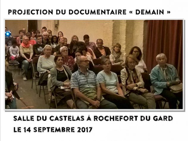 public lors de la projection du documentaire DEMAIN - Rochefort du Gard -14-10-2017
