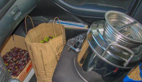 Huilier de 15l amené au moulin de Romanou - Récolte olive 109Kg - la JARRE Écocitoyenne - 06-11-2017