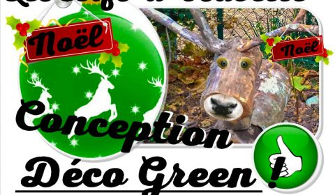 cerf de Noël Déco Green - Atelier recyclage et réemploi - association la JARRE Écocitoyenne