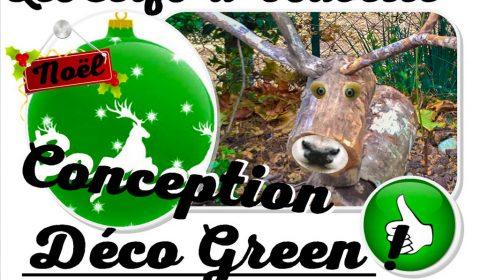 cerfs de Noël - Déco Green zéro carbone - atelier RRR et DIY - association la JARRE Écocitoyenne