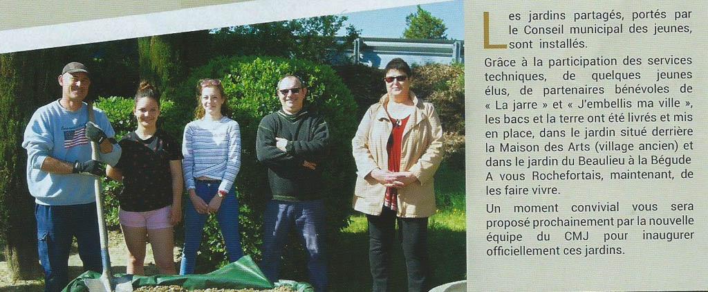 Jardins partagés - CMJ - Rochefort du Gard - Revue reflets juillet 2018 - p8