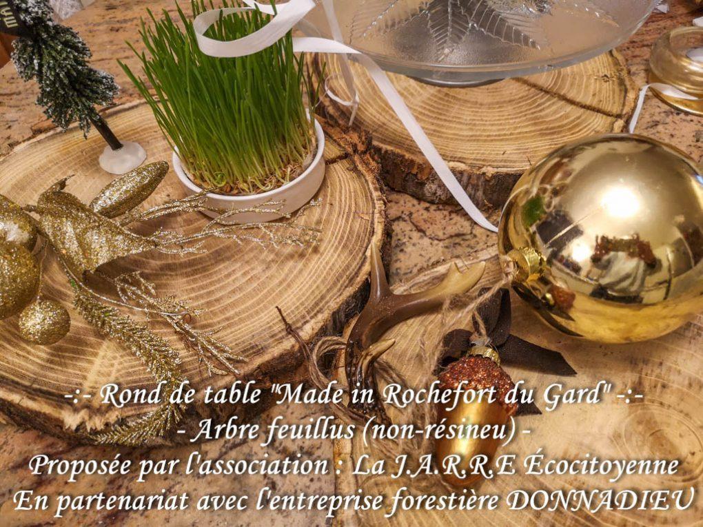 Rond de table - made in Rochefort du Gard - Partenariat asso la jarre et entreprise Donnadieu