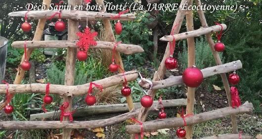 Sapin de noel bois flotté - made in la JARRE