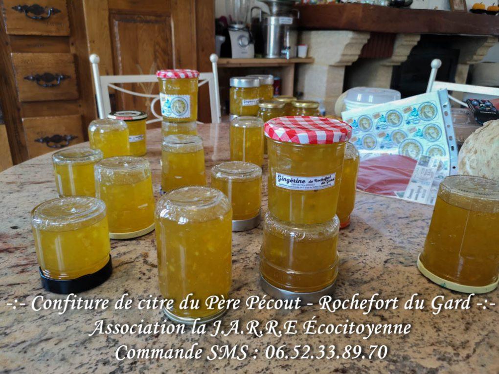 Les confitures de citre aux écorces orange et citron confits refroidissent - asso la jarre