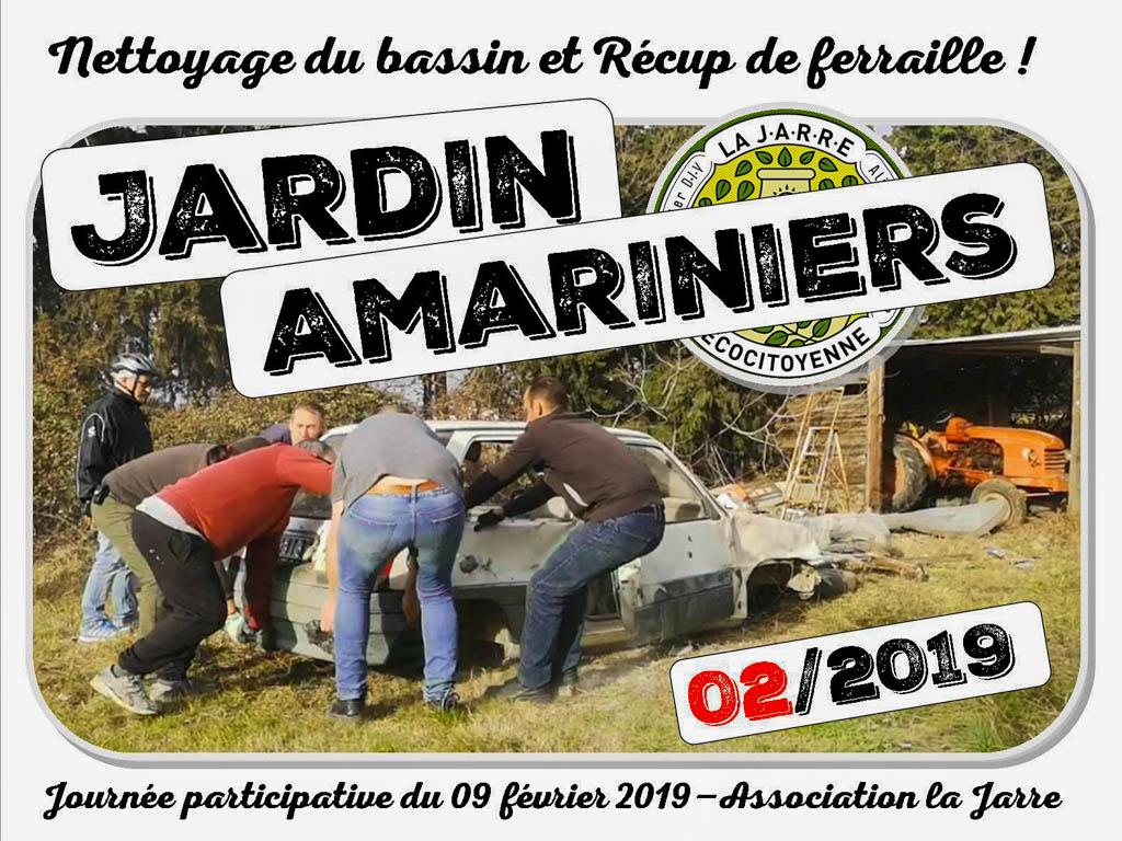 Journée participative - nettoyage bassin et récup de ferraille - 09-02-2019 - association la jarre