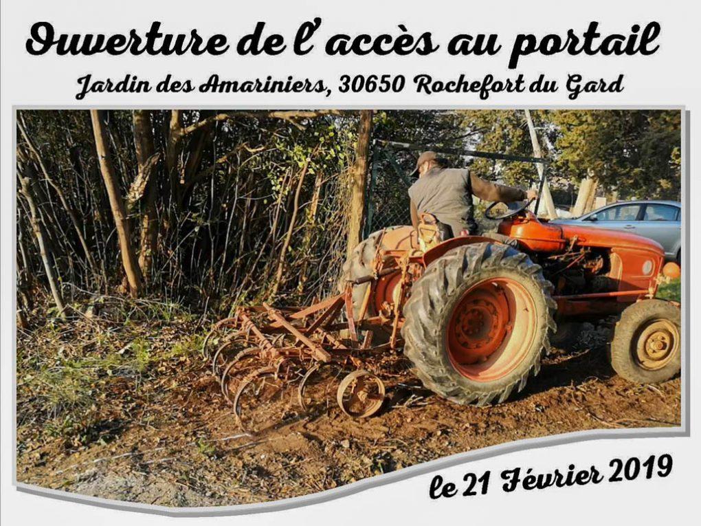 Agrandissement accès au portail - Jean-Marie et son tracteur - Jardin Amariniers