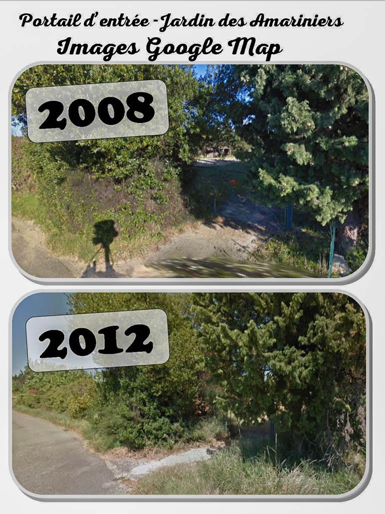 Portail chemin des Amariniers - googleMap - 2008 et 2012