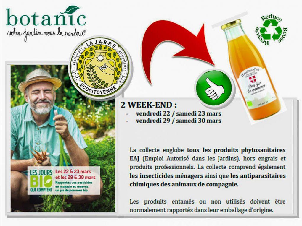 Visite de la jardinerie avec DavidZ plus collecte de pesticides - 23 et 30 Mars 2019