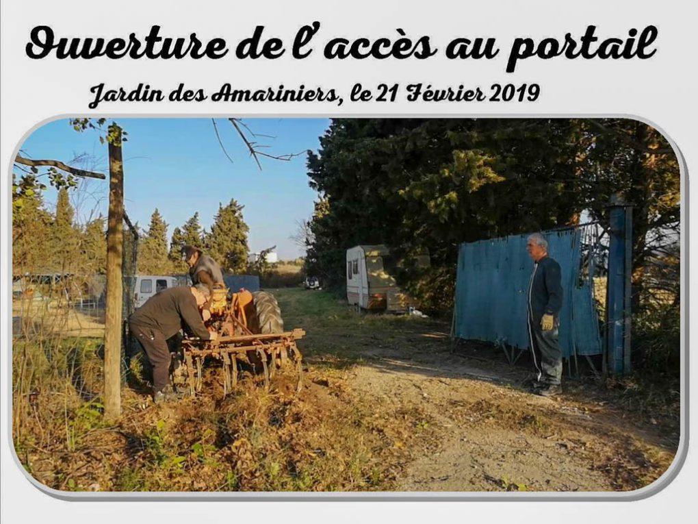 ouverture du double portail - jardin Amariniers - 21-02-2019
