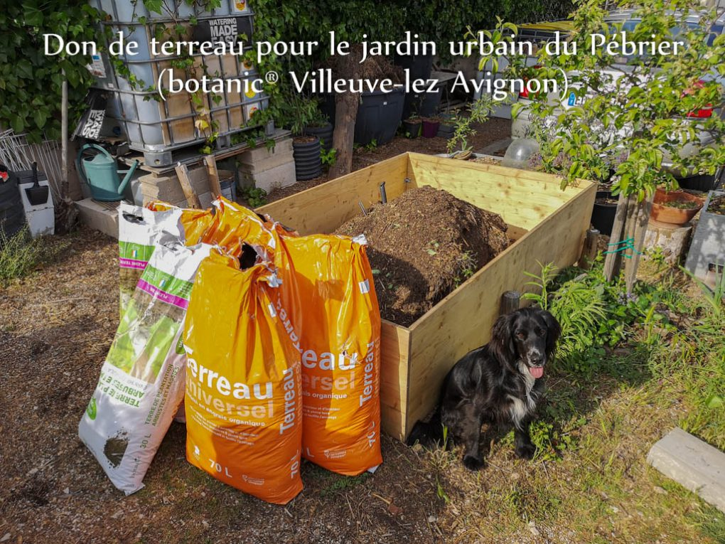 Don terreau botanic@ - jardin urbain du Pébrier - Rochefort du Gard