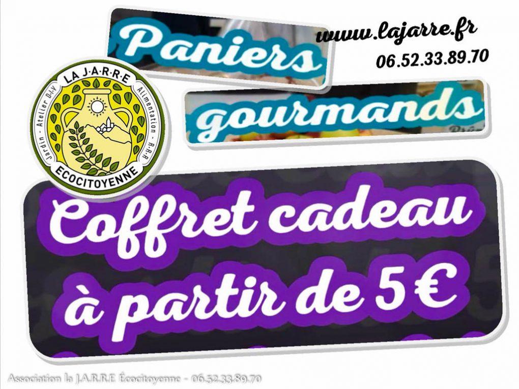 Panier cadeau -coffret - 5 euros et plus -livraison rochefort du gard