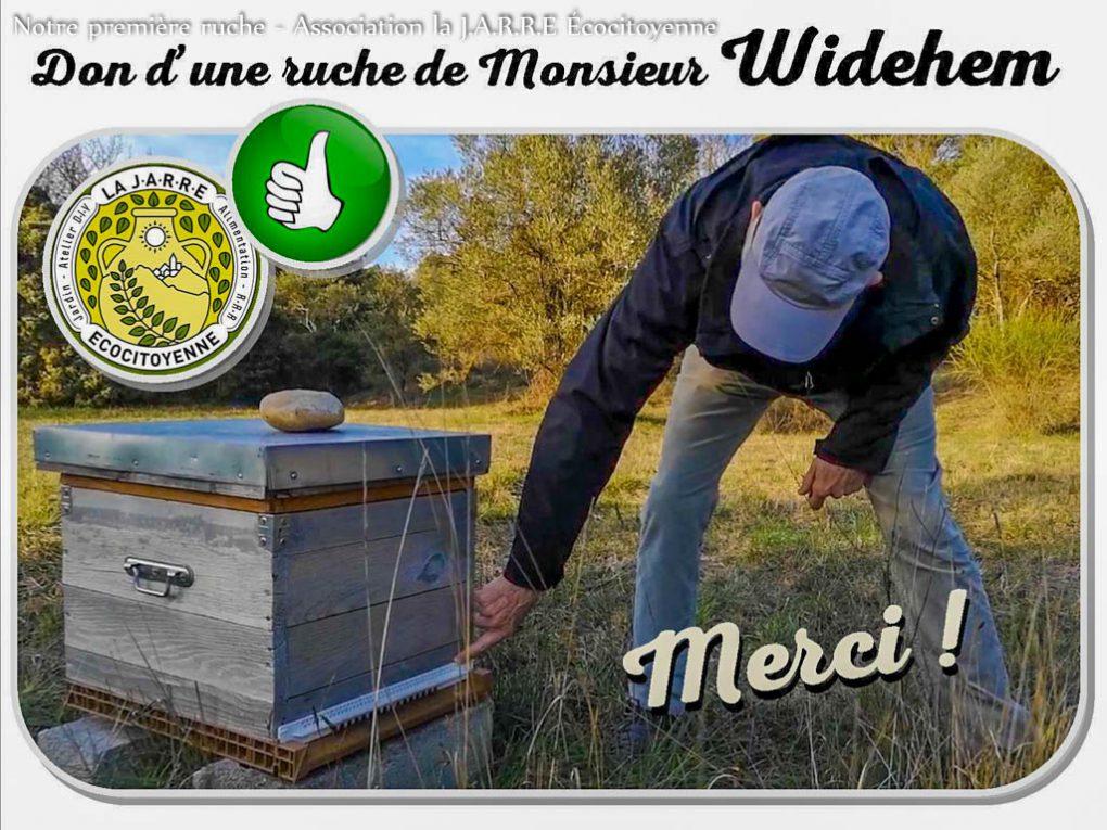 M WIDEHEM donnant des conseils pour le transport du rucher de la commune de Pujaut à la commune de Rochefort du Gard