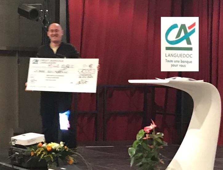 DavidZ - Réception du chèque de 1000€ du Crédit Agricole - Ensemble pour un développement responsable