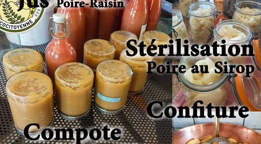 Ateleir autour de la poire - en jus - sirop -compote -confiture ou en tarte - association la jarre écocitoyenne