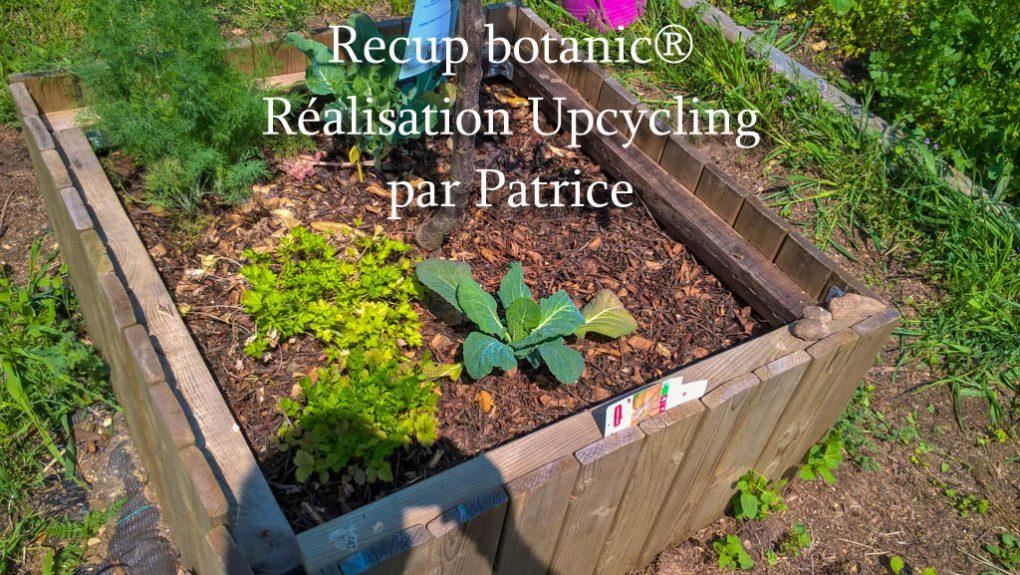 Carré potager avec des planches de récup_Recup botanic®_villeneuve-les-avignon_association la jarre_rochefort du gard
