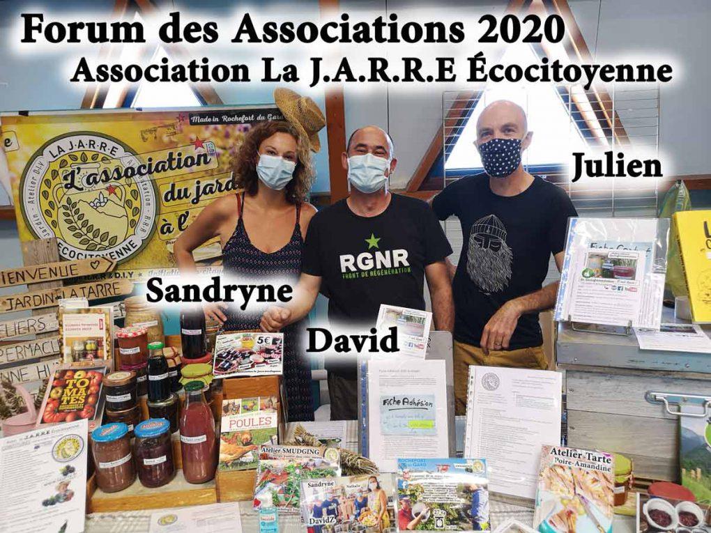 Sandryne Zicola, david et Julien DETRAZ (référent apiculture)