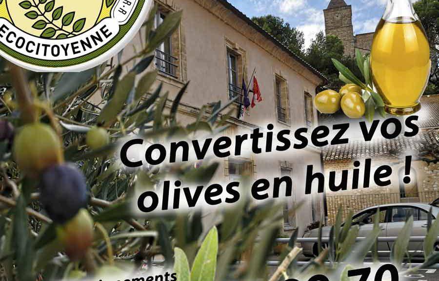 Récolte olive Rochefort du Gard Association La JARRE Écocitoyenne
