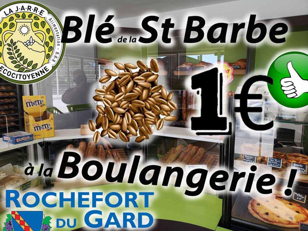 Blé de la Sainte Barbe à la Boulangerie de Rochefort-du-Gard