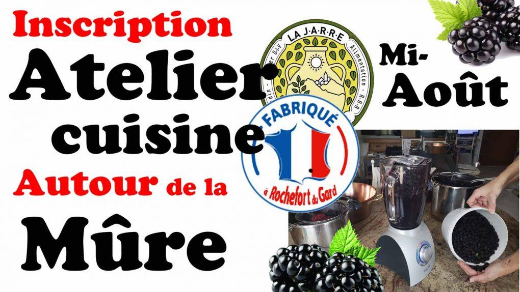 Atelier Autour de la mûre de roncier sauvage-Asso La JARRE-Rochefort du Gard