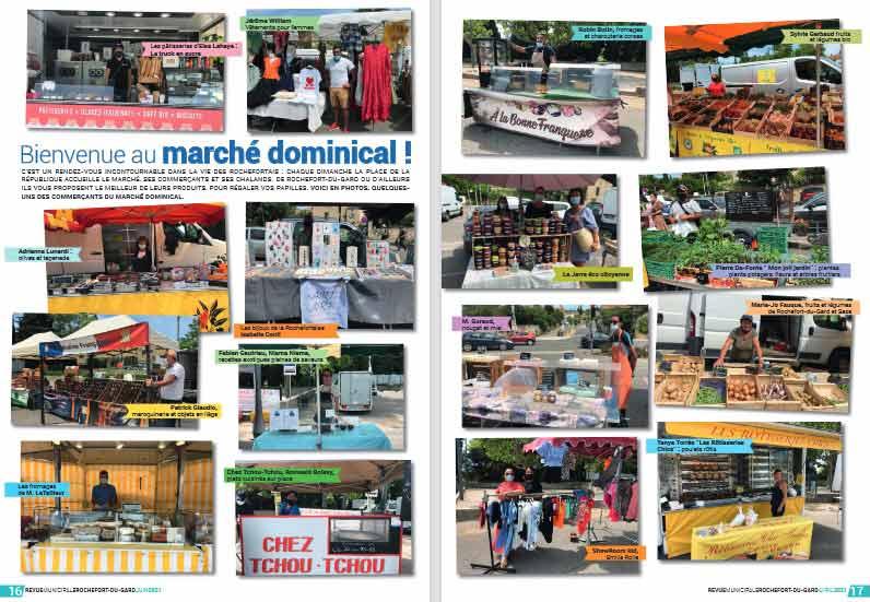 Marché Dominical de Rochefort du Gard_revue juin 2021-association la JARRE eco citoyenne