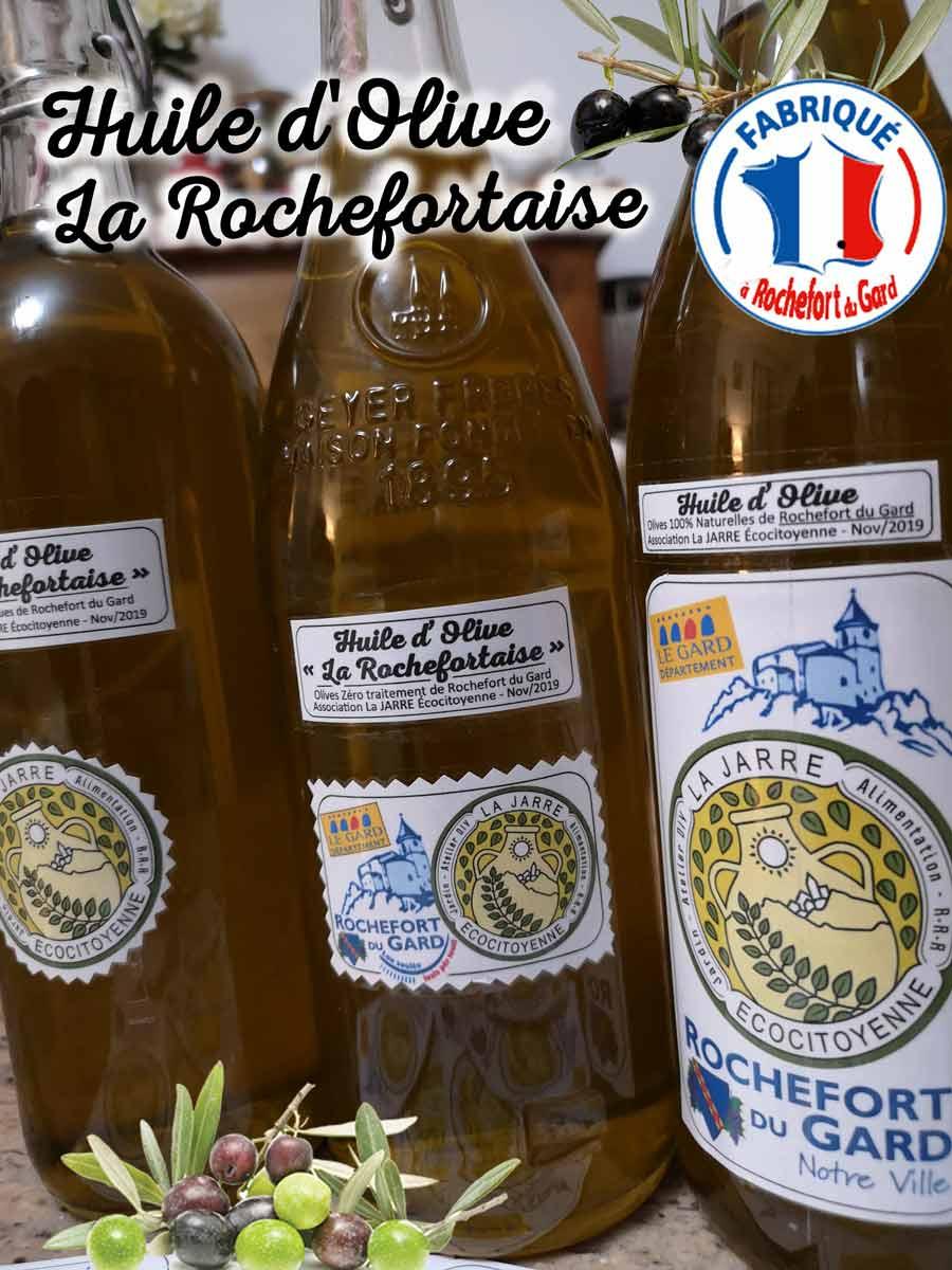 Huile la Rochefortaise produite par l'association La JARRE Écocitoyenne